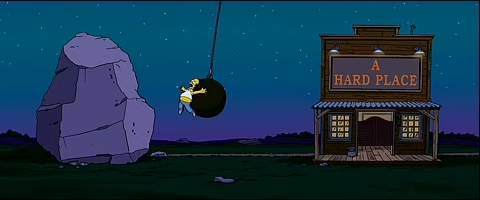 simpsons-between-a-rock-and-a-hard-place